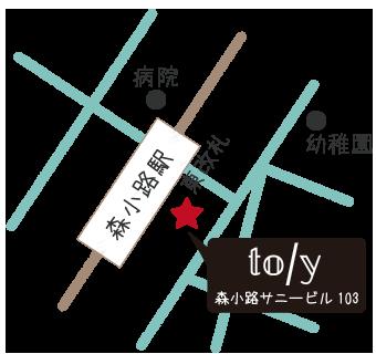 mote(モーテ)の地図